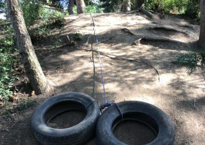 Tahání pneu na laně